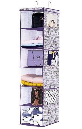 7f4a0508e homyfort Organizador Estante para Jerseys de Tela con 6 estantes – Armario  de Tela para Ropa