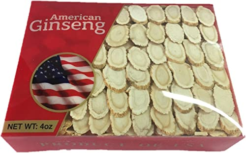 Hand-Selected A Grade American Ginseng Medium Slice 4 Oz. Box