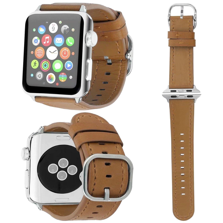 交換バンド アップルウォッチに対応 本革レザー,ZXK CO Apple watch Series3/Series2/Series1に対応 交換ベルト 花柄 アップルウォッチ バンド 38mm/42mm専用 おしゃれ エレガントなデザイン プレゼント 誕生日 B077HV4Q7T 38mm ブラウン ブラウン 38mm