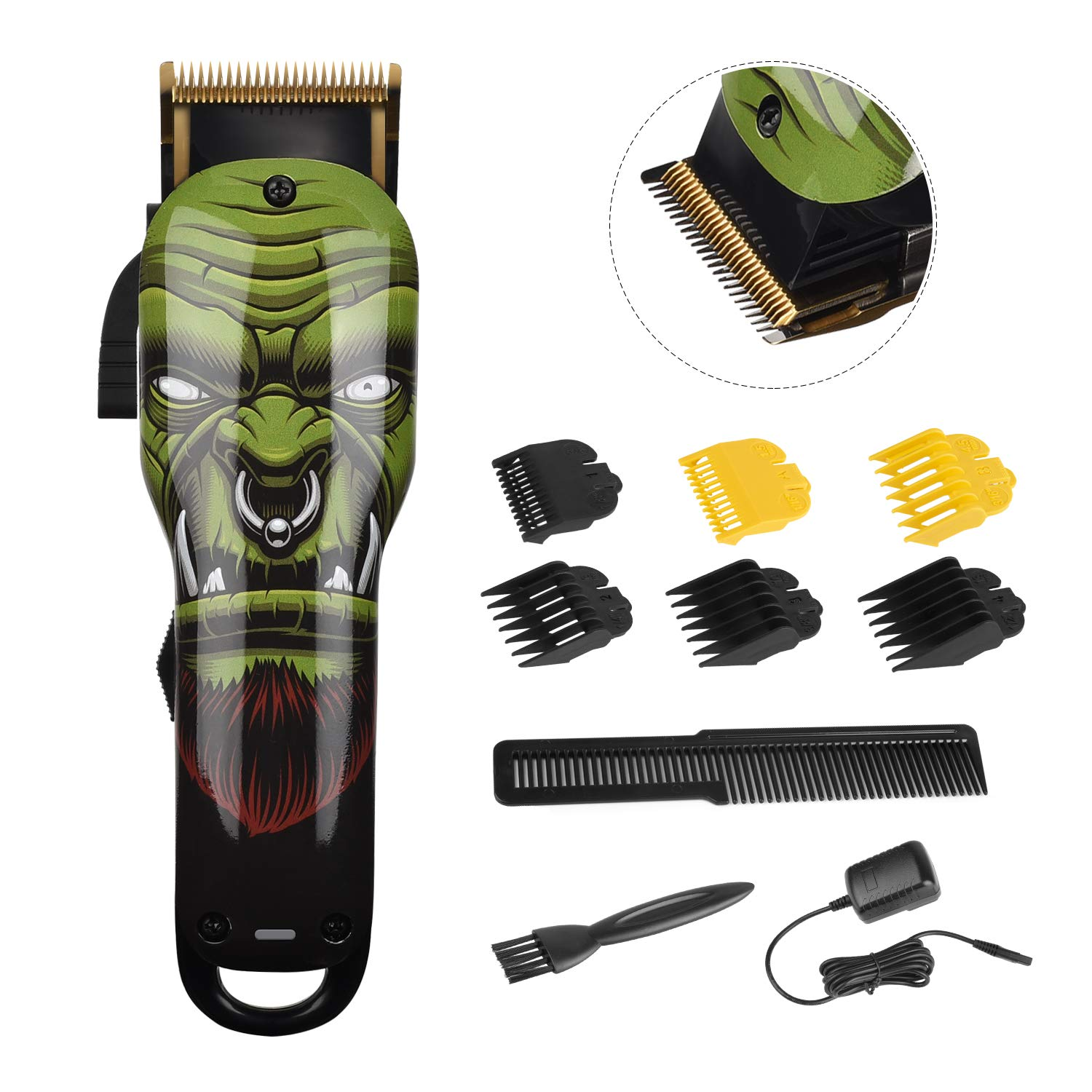 Love the Orc Face Design - Super Powerful and Quiet Hair Cutting Kit!
