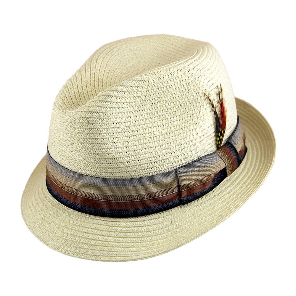 63629f37fea9d Jaxon   James Summer Blues Trilby Hat - Ivory LARGE  Amazon.co.uk  Clothing