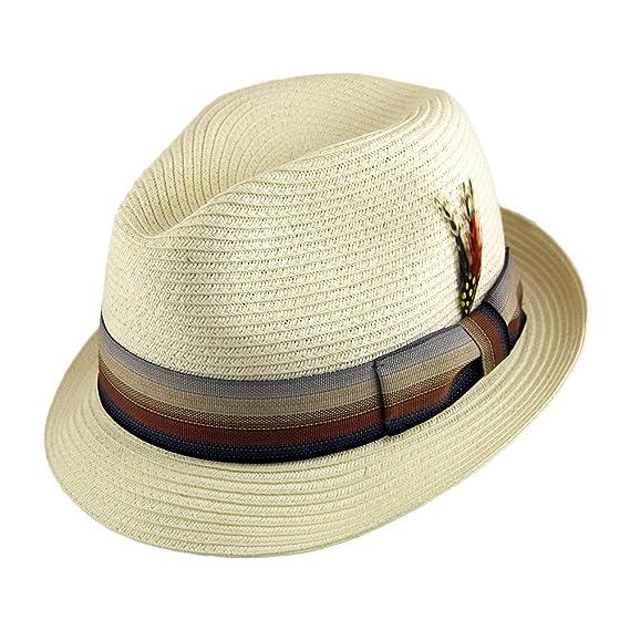 285ce758b43 Jaxon   James Summer Blues Trilby Hat - Ivory LARGE  Amazon.co.uk ...