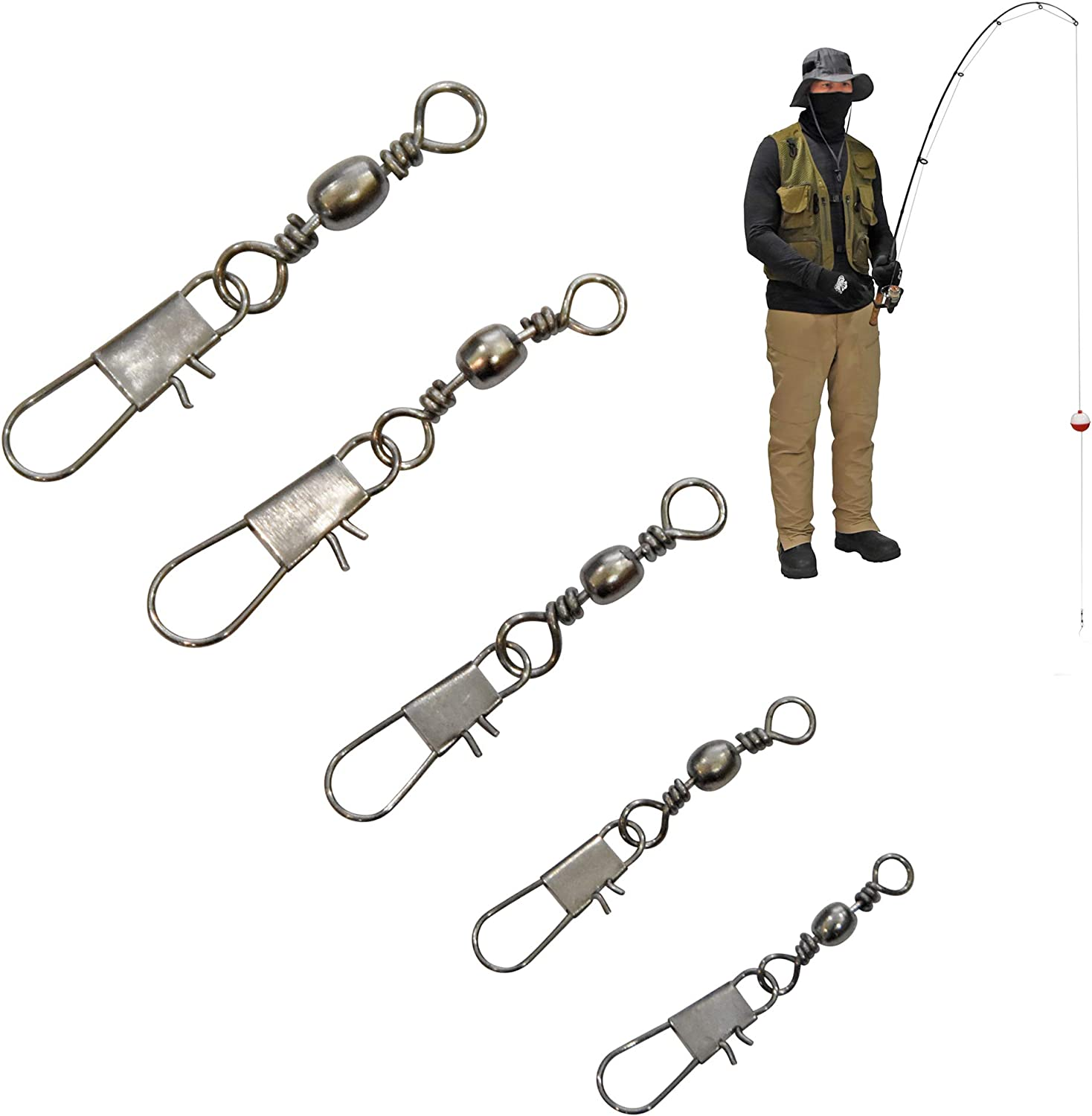 Easy to Use Durable for Freshwater Short Sea Fishing Fishing Equipment Fishing Swivel Swivel Connector