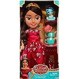 Jakks Pacific Disney Princesa Elena de Avalor 35 cm y Jaquin con Set de Té para Dos Tea Time