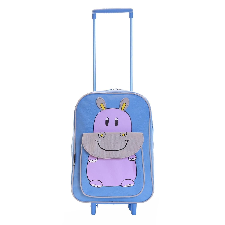 Karabar Tierwelt Freunde Kinder Trolley-Tasche (Blau Hippo) K-BAR-3300