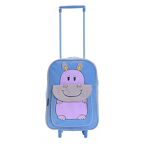 20d0b4bb83 Karabar Wildlife Amici Bambini Trolley Borsa (Blu Hippo): Amazon.it ...