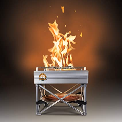 Amazon Com Trailblazer Leave No Trace Portable Camp Stove Fire Pit 3 Lbs Total Weight 12 X 12 Never Rust Design Garden Outdoor