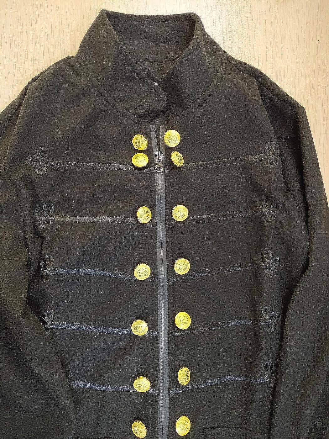 DaiWeiDress Hommes Uniforme dofficier Veste de d/éfil/é de Batteur Militaire F/ête costum/ée V/êtements dext/érieur