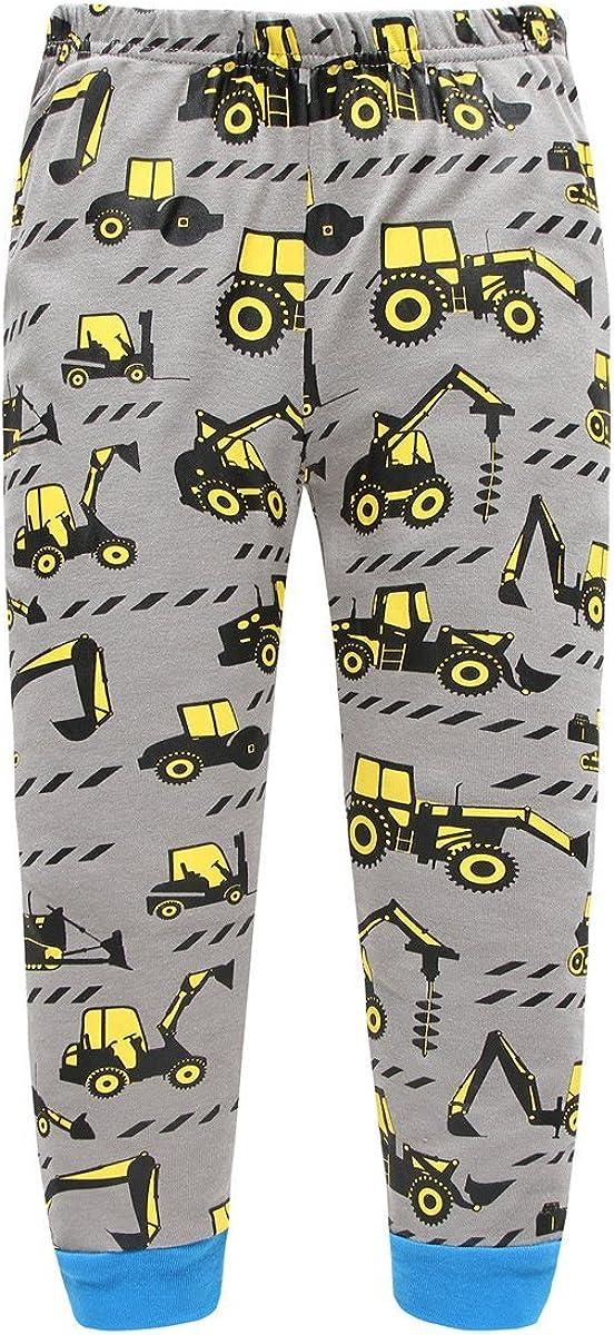Toddler Boys Pajamas Dinosaur 100/% Cotton Kids Train 2 Piece Pjs Sets Sleepwear Clothes Set 1-7 T