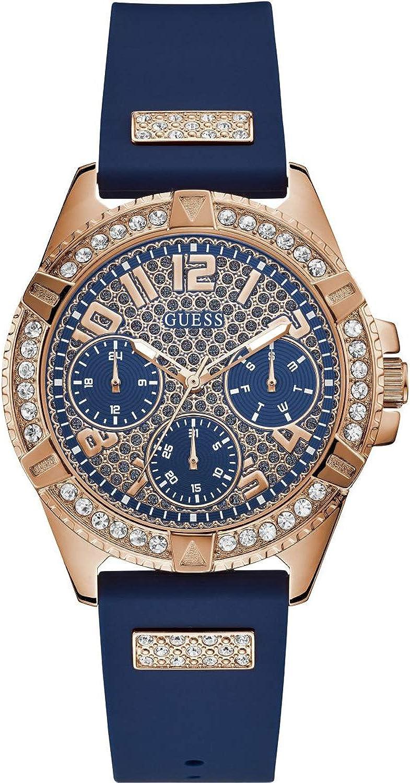 Guess Lady Frontier Reloj para Mujer Analógico de Cuarzo con Brazalete de Silicona W1160L3
