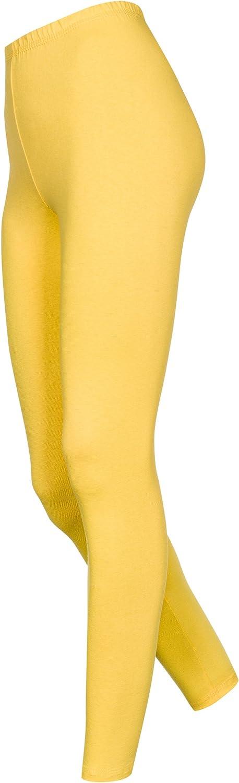 OssaFashion Leggins Leggings pour Femme Tous Les Jours en Coton Pleine Long Longueur /à la Cheville 36 38 40 42 44 46