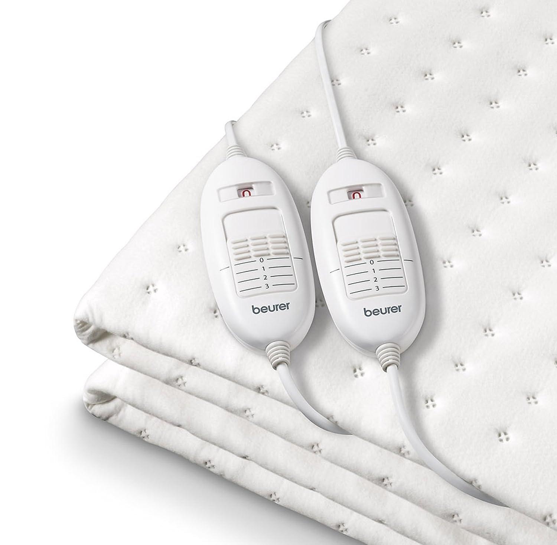 Beurer TS 26 - Calientacamas doble, 150 x 140 cm, color blanco: Amazon.es: Salud y cuidado personal