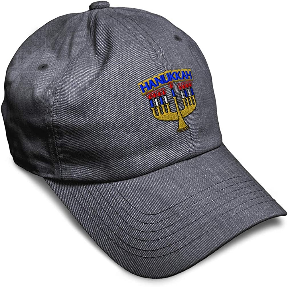 Custom Soft Baseball Cap Hanukkah Embroidery Dad Hats for Men /& Women
