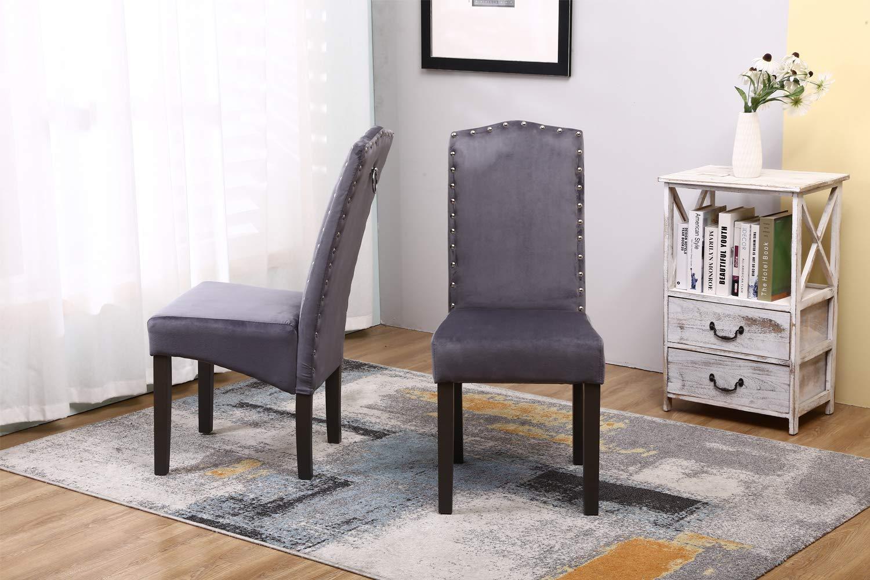 PS Global Lot de 2 chaises de Salle /à Manger en Velours Knockerback de qualit/é Chaises de Salle /à Manger Cuisine