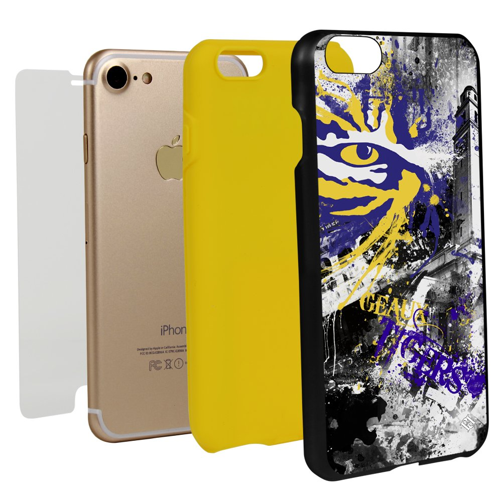 Guard Dog LSU Tigers Paulson Designs Spirit Case for iPhone 7/8 with Guard Glass Screen Protector by Guard Dog