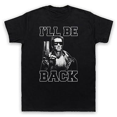 Terminator I'll Be Back Mens T-Shirt, Black, Small