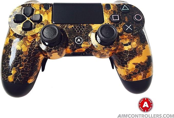 PS4 DualShock 4 PlayStation 4 Wireless Controller - Custom AiMControllers Digi Camo Gold Design Scuf: Amazon.es: Videojuegos