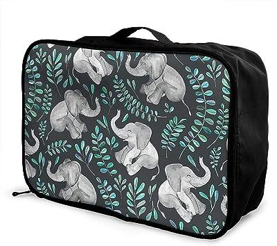 WIHVE Gym Duffel Bag Unicorn Fantsatic Plants Glitter Sports Lightweight Canvas Travel Luggage Bag