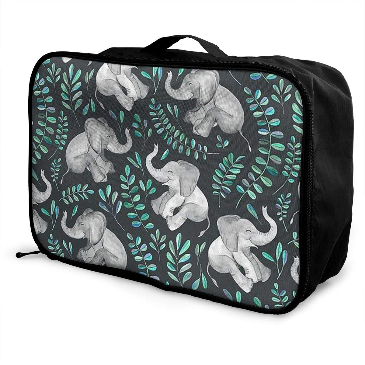 Women /& Men Foldable Travel Duffel Bag Laughing Baby Elephants Printed For Luggage Gym Sports