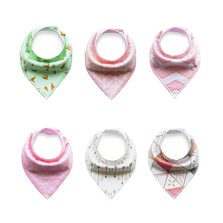 Txian - Baberos tipo bandana algodón impermeable, super absorbentes ...