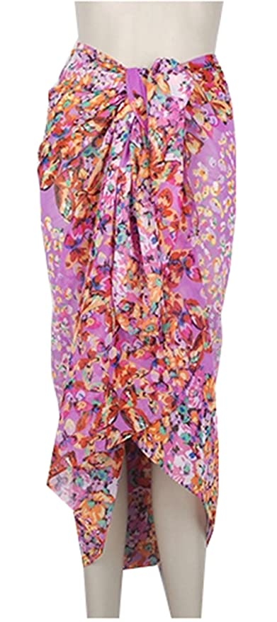 1458786b34 Image Unavailable. Image not available for. Color: PANDA SUPERSTORE Simple  Sarongs Women's Swimsuit Cover Up ...