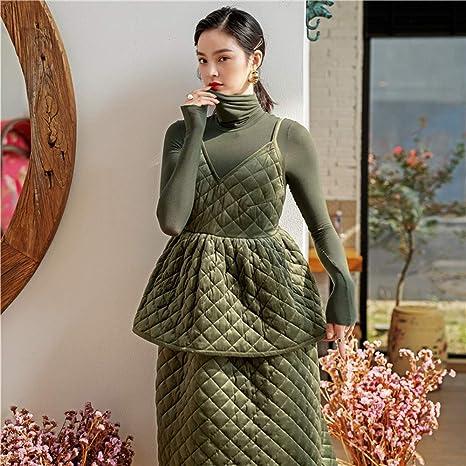 WYTX Pijama Elegante Falda Francesa con Tirantes, Cuello Alto ...