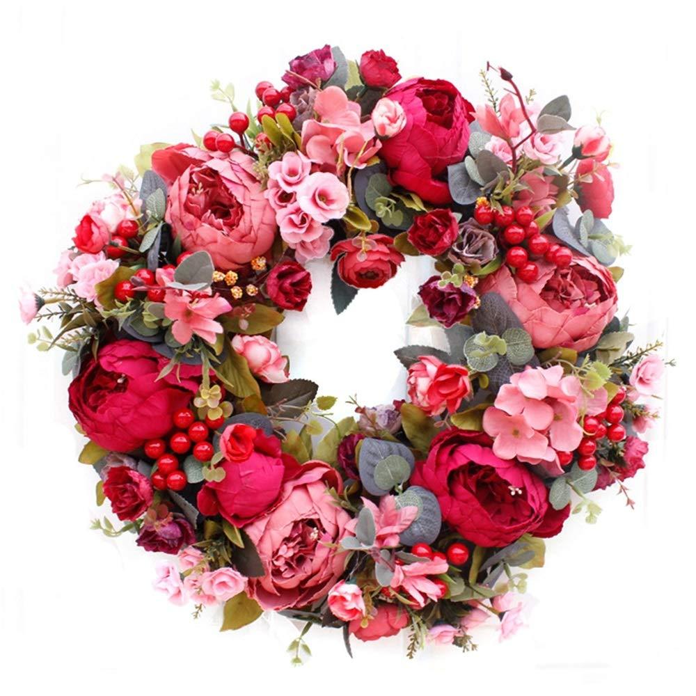 GAIGAI 16 '人工花のループ、部屋のためのプラスチック製のピンクの花束ブライダルブーケ、家の装飾、キッチン、庭、結婚式、パーティーの装飾、2のセット B07S1NMVY6