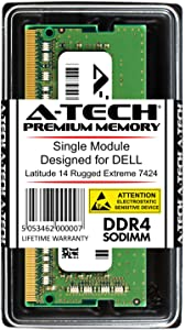 A-Tech 8GB RAM for DELL Latitude 14 Rugged Extreme 7424 | DDR4 2400 SODIMM PC4-19200 1.2V 260-Pin Memory Upgrade Module