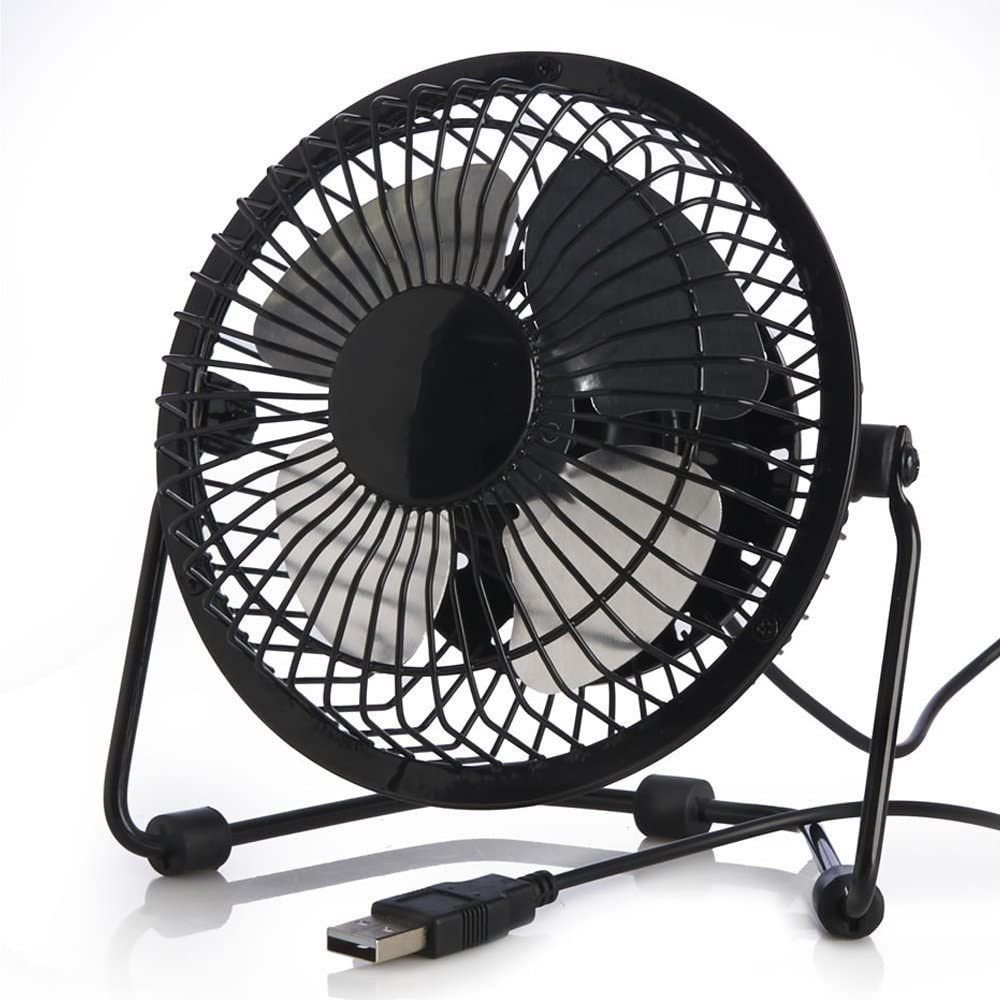 Yonger Table Desk Fan USB Mini Fans Charger Plug Desk Cooler Fan Velocity Personal Fan Electric Desktop Fans
