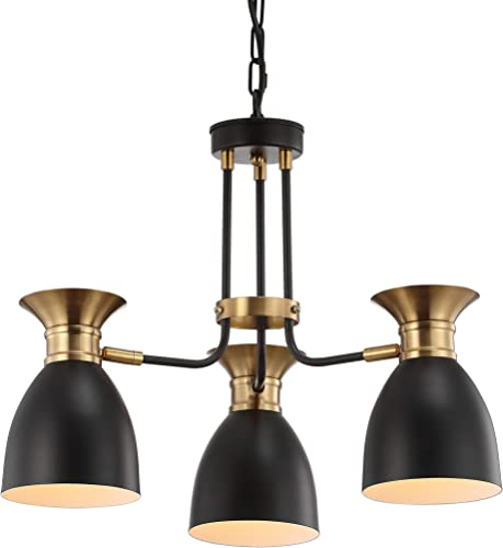 JONATHAN Y JYL6137A Middleton 20″ 3-Light Metal LED Pendant