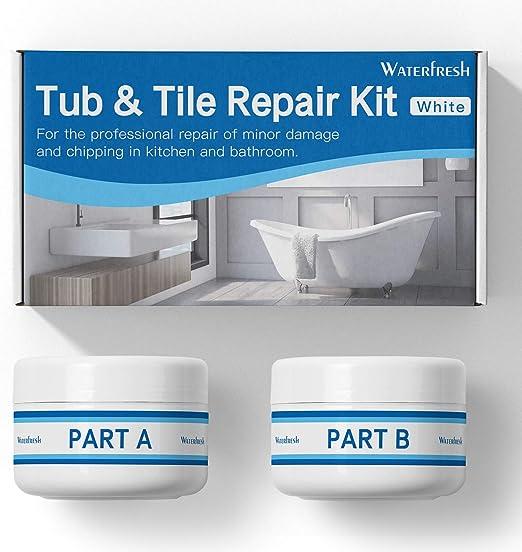 Toilet Tub and Tile Refinishing Kit Tile and Shower Repair Kit Sink Crack Non-toxic and Odorless Bathtub for Tubs Porcelain 3.5oz Waterproof Porcelain Repair Kit AB Epoxy Resin Tub