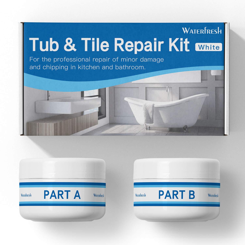 Tub, Tile and Shower Repair Kit - White   Fiberglass and Porcelain Repair   Shower & Countertop - Bathtub Refinishing Kit