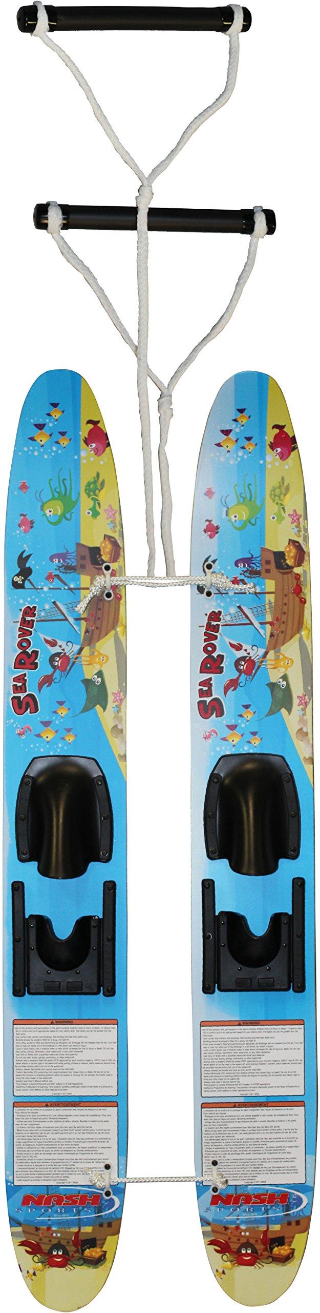 Hydroslide Kid's Trainer Water Skis, Blue, 48-Inch by Hydro Slide