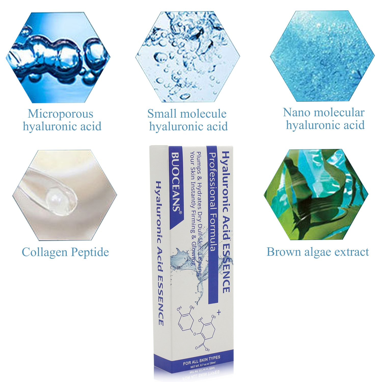 Ácido hialurónico anti-arrugas straffendes Humedad Cuidado Serum, anti-edad cuidado facial, Cornejas, pies, lachf Antiguos, líneas y todos los Edad ...