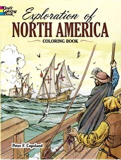 Exploration Of North America Coloring Book Dover History