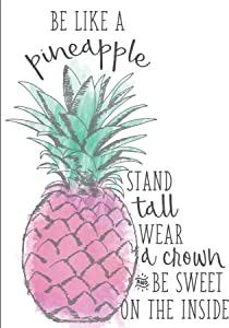 Wall Pops DWPQ2467 Like a Pineapple Wall Quote, Pink