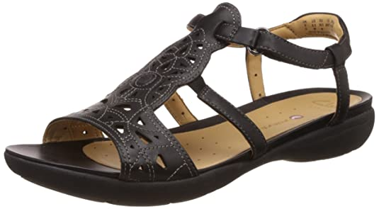 Clarks Women's Leather Fashion Sandals Fashion Sandals at amazon