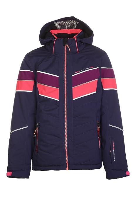 Killtec Mädchen Lisetta Jr Skijacke / Funktionsjacke mit abzippbarer Kapuze und Schneefang