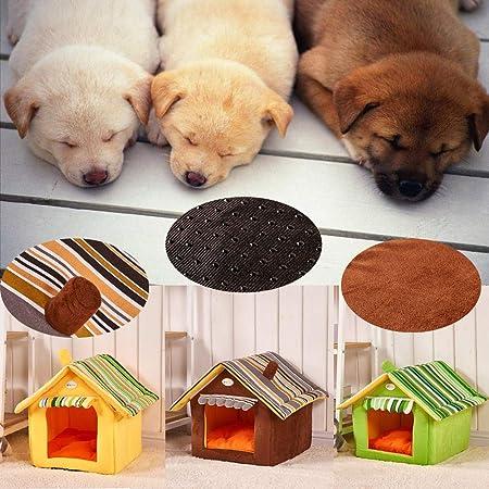 Fossrn Cama para Mascotas Perro Gatos Lavable Cama de Dormir - Forma casa (C): Amazon.es: Deportes y aire libre