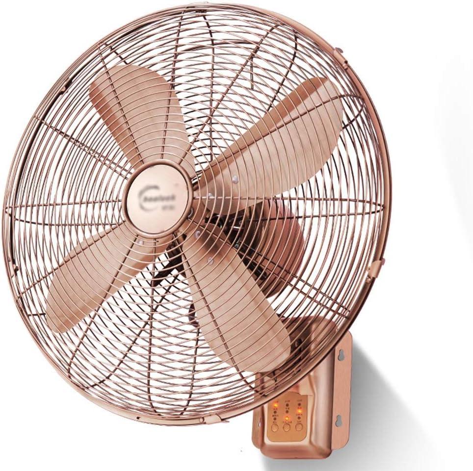 ZZHFS BBGS Ventilador Eléctrico, Ventiladores De Pared De Metal Vintage-Control Remoto Sincronización Hogar Antiguo Ventilador Eléctrico con Cabeza De Sacudida, 16