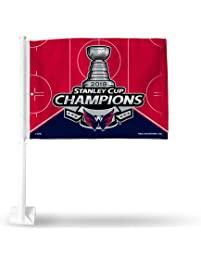 Rico Industries NHL Washington Capitals 2018 Stanley Cup Champions Car  Flag 092dc9f1e60