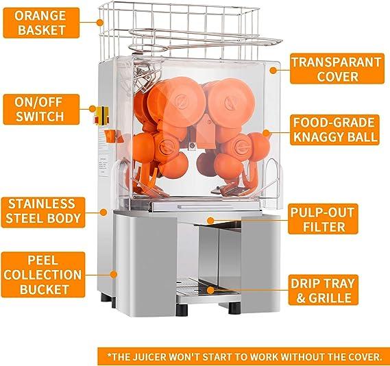 SUNCOO® Extractor eléctrico naranja de zumo limón lima máquina de ...