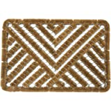 """Rubber-Cal """"Polygon"""" All Weather Coco Scraper Mat, 18 by 30-Inch"""