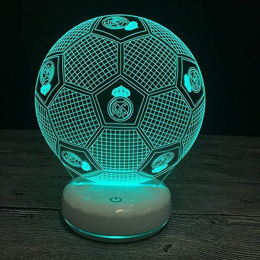 Luces de noche 3D Real Madrid Fútbol 7 colores Cambiar ...