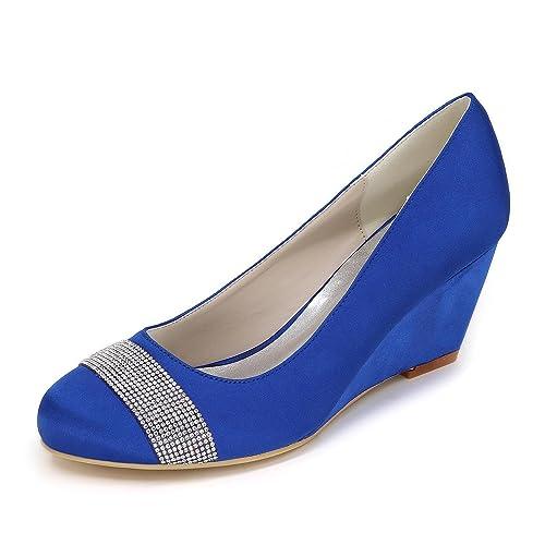 L YC Cuña De La Mujer Cuña De TacóN Alto De La Boda Zapatos De  PersonalizacióN 9140-04 CóModos Jardines Grandes  Amazon.es  Zapatos y  complementos f9061b388c11