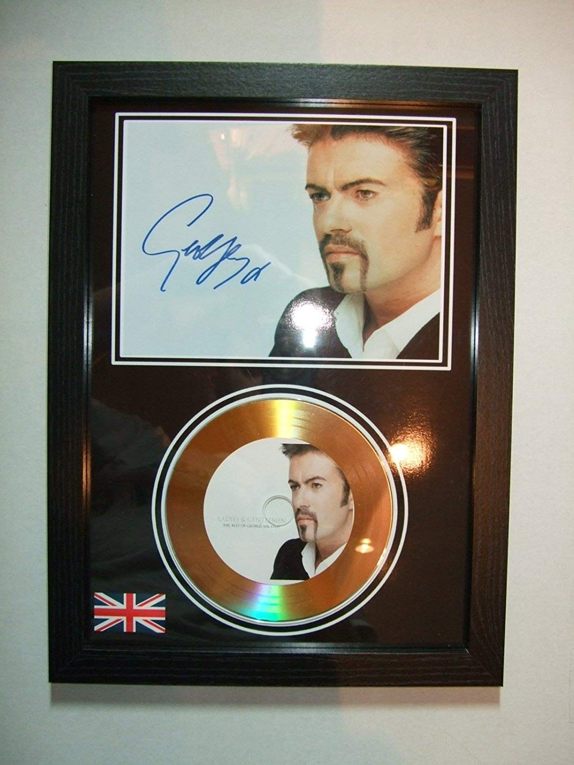 george michael signed gold disc 5 home disc