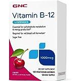 GNC Vitamin B-12 1000mcg - Cherry, 120 Lozenges, Supports Energy Production