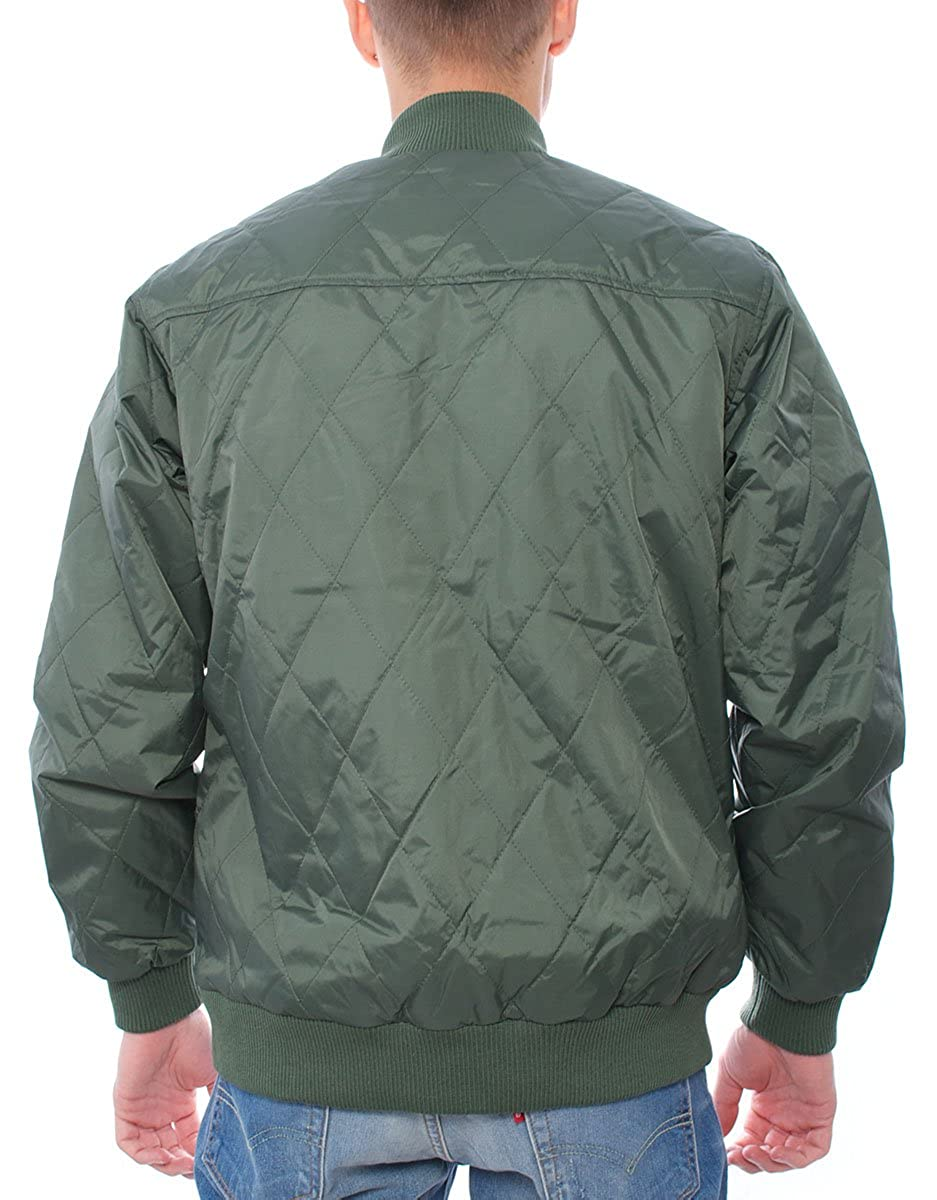 OBEY Avalon Jacket Hombre, Anorak, Verde militar Small ...
