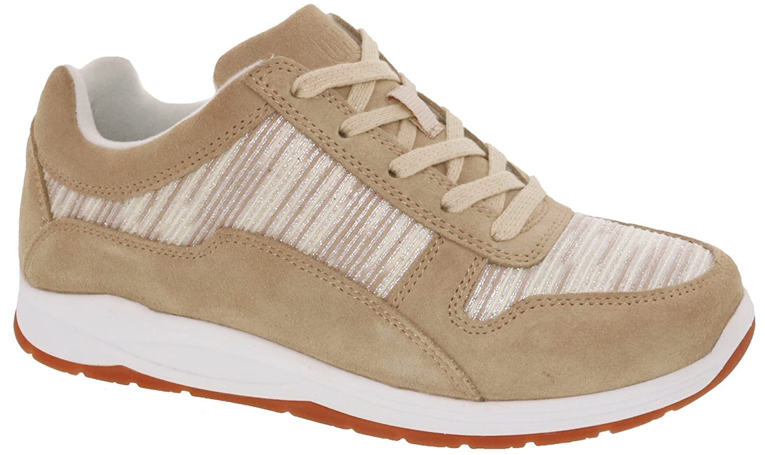Drew Shoe Tuscany Women's Therapeutic Diabetic Extra Depth Shoe Leather/mesh Lace-up B079YZR831 10.5 2A(N) US|Cream/Combo