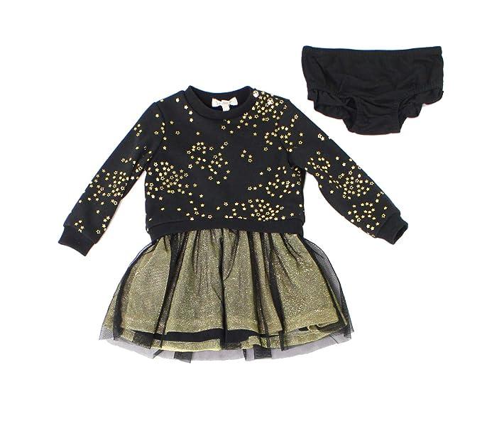 Jessica Simpson Baby Girls Star Sweater Tulle Dress Black 12 Months
